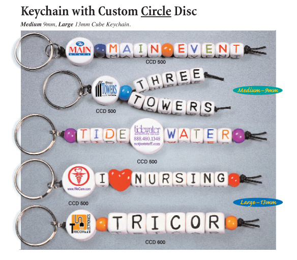 keychain with custom circle disc